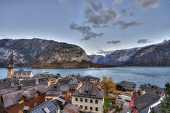 Beau village de Hallstatt Photo stock