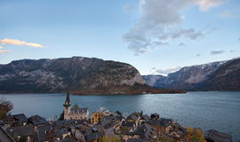Beau village de Hallstatt Images stock