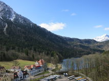 Beau village de Hoheschwangau Photographie stock libre de droits
