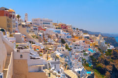 Beau village de Thira. Santorini Photo stock