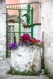 Beau village sur Corfou Photos stock