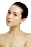 Beau visage d'un jeune femme caucasien Visage de beauté de femme photo stock
