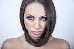 Beau visage d'une femme Photo stock