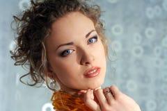Beau visage de femme de mode Photos libres de droits