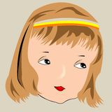 Beau visage de fille Illustration Stock