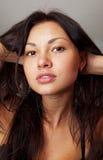 Beau visage de fille Images libres de droits