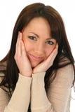 Beau visage de fixation de femme Image stock