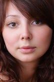 Beau visage de jeune femme photographie stock libre de droits