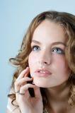 Beau visage sensuel de femme Photo libre de droits