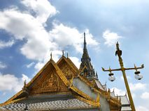 Beau wararam de Wat Sothorn de temple worawihan, Chachoengsao Thaïlande Image libre de droits