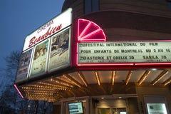 Beaubien kino przy nocą obraz royalty free