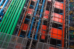 Beaubourg. Fa�ade of the Centre Pompidou in Paris royalty free stock photography