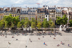 Beaubourg okręg w Paryż, Francja Obraz Stock