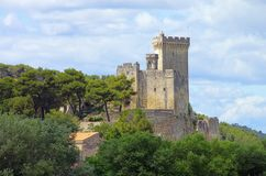 Beaucaire castle Stock Photo