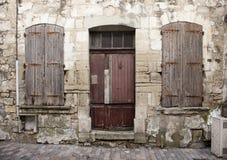 Beaucaire dilapidato delle case Immagine Stock Libera da Diritti
