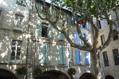 Beaucaire. (Gard, Languedoc-Roussillon, France) - The typical old square Royalty Free Stock Photography