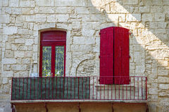 Beaucaire. (Gard, Languedoc-Roussillon, France) - The typical old square: house Stock Images