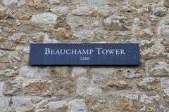 Beauchamptoren bij de Toren van Londen Stock Afbeelding