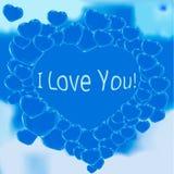 Beaucoup bouillonnent coeur au ciel dans l'amour Image libre de droits