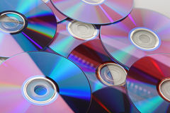 Beaucoup CD d'isolement Image stock