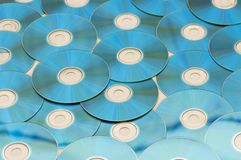 Beaucoup Cd disposé Photo stock
