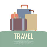 Beaucoup concept de voyage de bagage Image libre de droits