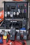 Beaucoup d'émetteurs récepteurs par radio pour l'urgence Photographie stock