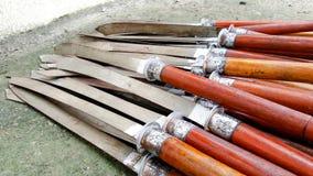 Beaucoup d'épées sont placées Photo libre de droits