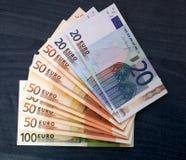 Beaucoup d'argent européen Photos stock