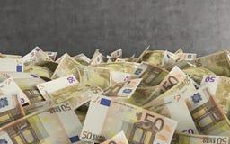 Beaucoup d'argent européen Photographie stock libre de droits