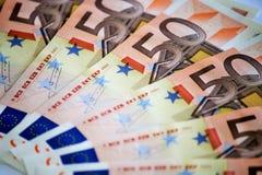 Beaucoup d'argent européen image stock