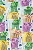 Beaucoup d'euro billets de banque Photo libre de droits