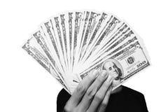 Beaucoup d'expositions distribuées par argent en noir et blanc Image stock