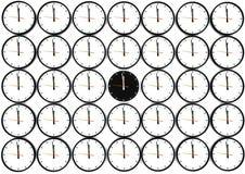 Beaucoup d'horloges Images libres de droits