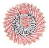 Beaucoup de 50 billets de banque de livre sterling, d'isolement Photo libre de droits