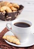 Café avec des bagels Images libres de droits