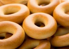 Beaucoup de bagels savoureux Images libres de droits
