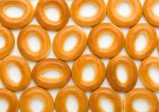 Beaucoup de bagels savoureux Image libre de droits
