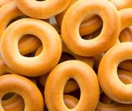 Beaucoup de bagels savoureux Photos libres de droits
