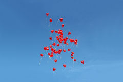 Beaucoup de ballons de rouge Photographie stock libre de droits