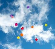 Beaucoup de baloons colorés Image libre de droits