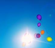 Beaucoup de baloons colorés Images libres de droits