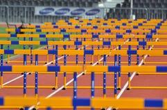 Beaucoup de barrières image stock