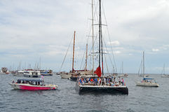 Beaucoup de bateaux spectaculaires Photo libre de droits