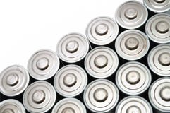 Beaucoup de batteries d'aa Photographie stock