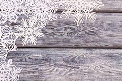 Beaucoup de beaux flocons de neige de Noël Photo libre de droits