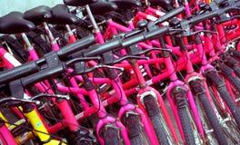 Beaucoup de bicyclettes Image libre de droits