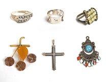 Beaucoup de bijoux diffirent Photos stock