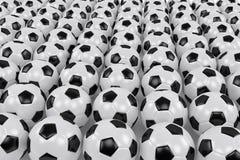 Beaucoup de billes de football Images libres de droits