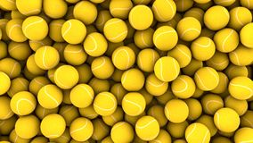 Beaucoup de billes de tennis Photographie stock libre de droits